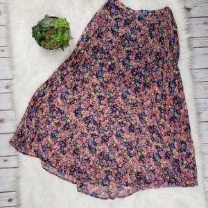 Decree Floral Maxi Skirt Size Medium